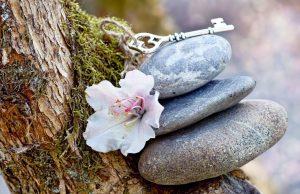 key atop stones