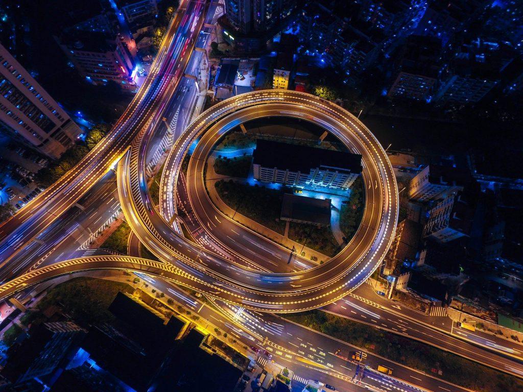 swirling roads