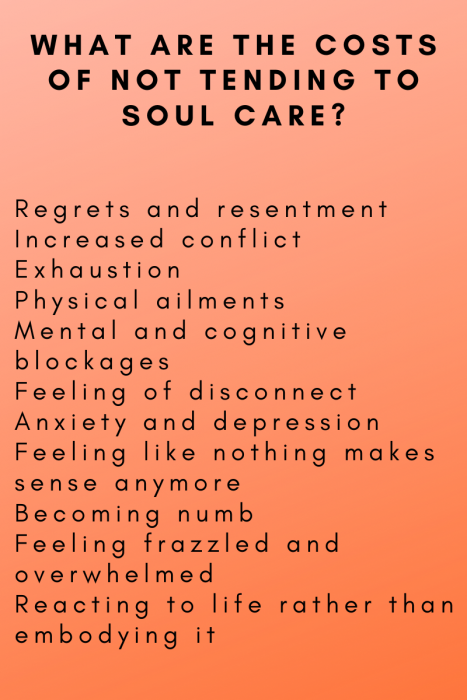 list of what needs healing
