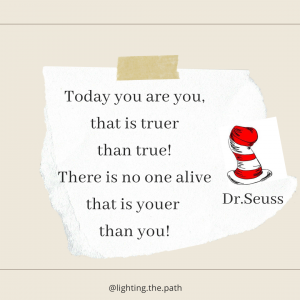 Dr. Seuss quote about being truest self