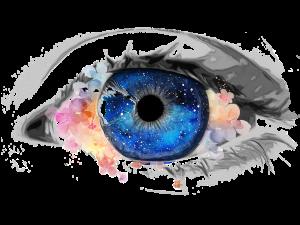 eye reflecting cosmos
